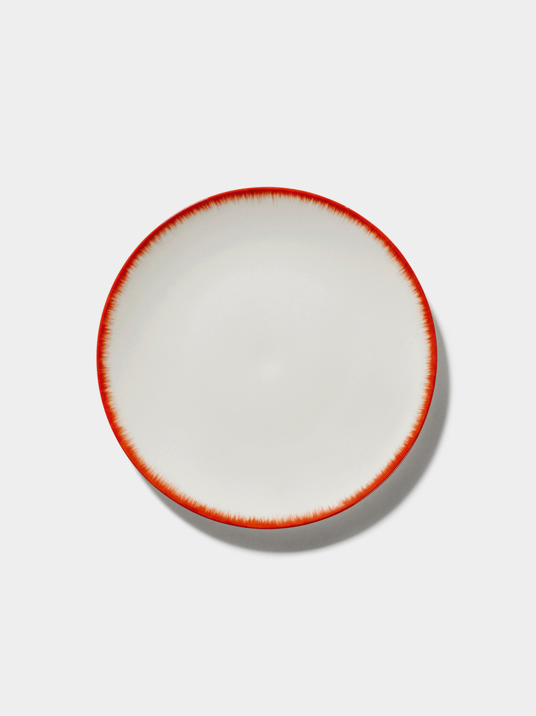 Ann Demeulemeester - Plate 24 cm Off White - Red No2
