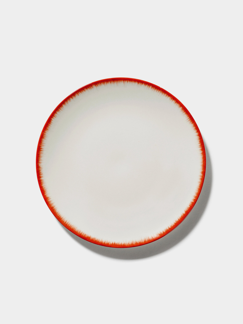 Ann Demeulemeester - Plate 28 cm Off White - Red No2