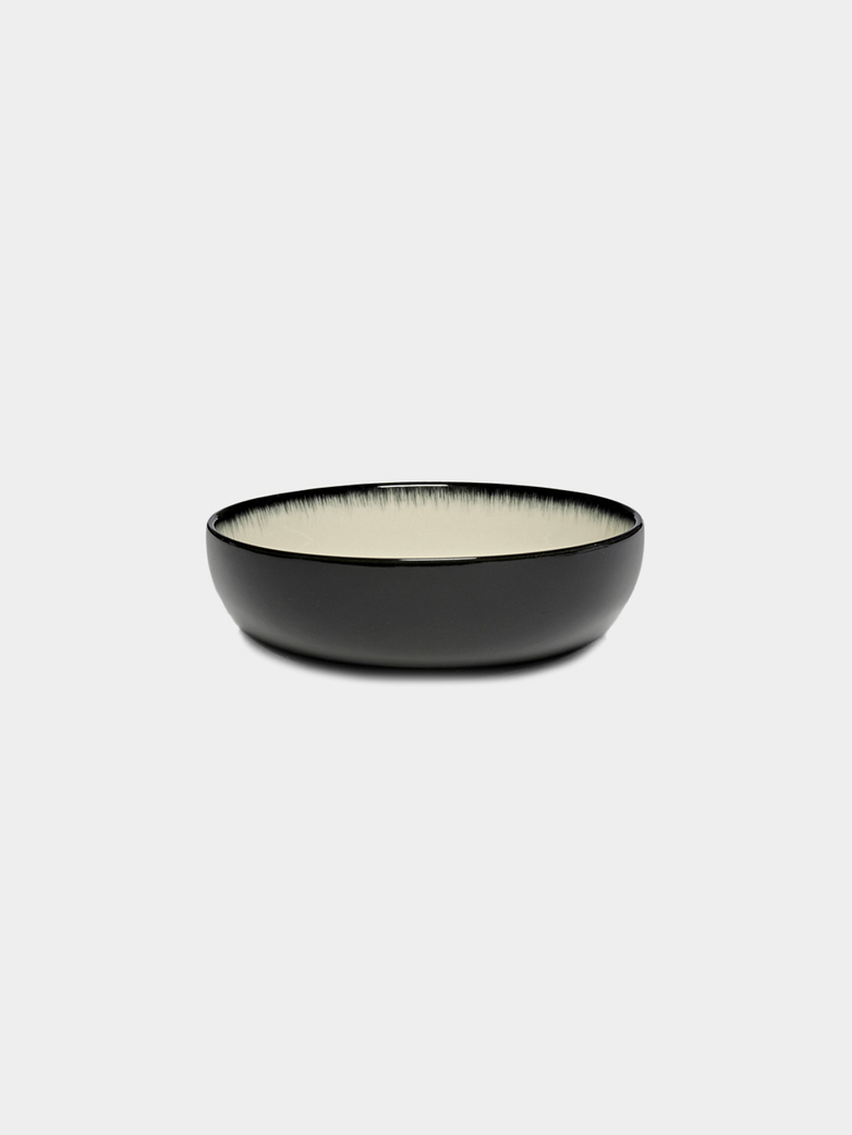 High Plate 13 cm Off White - Black D