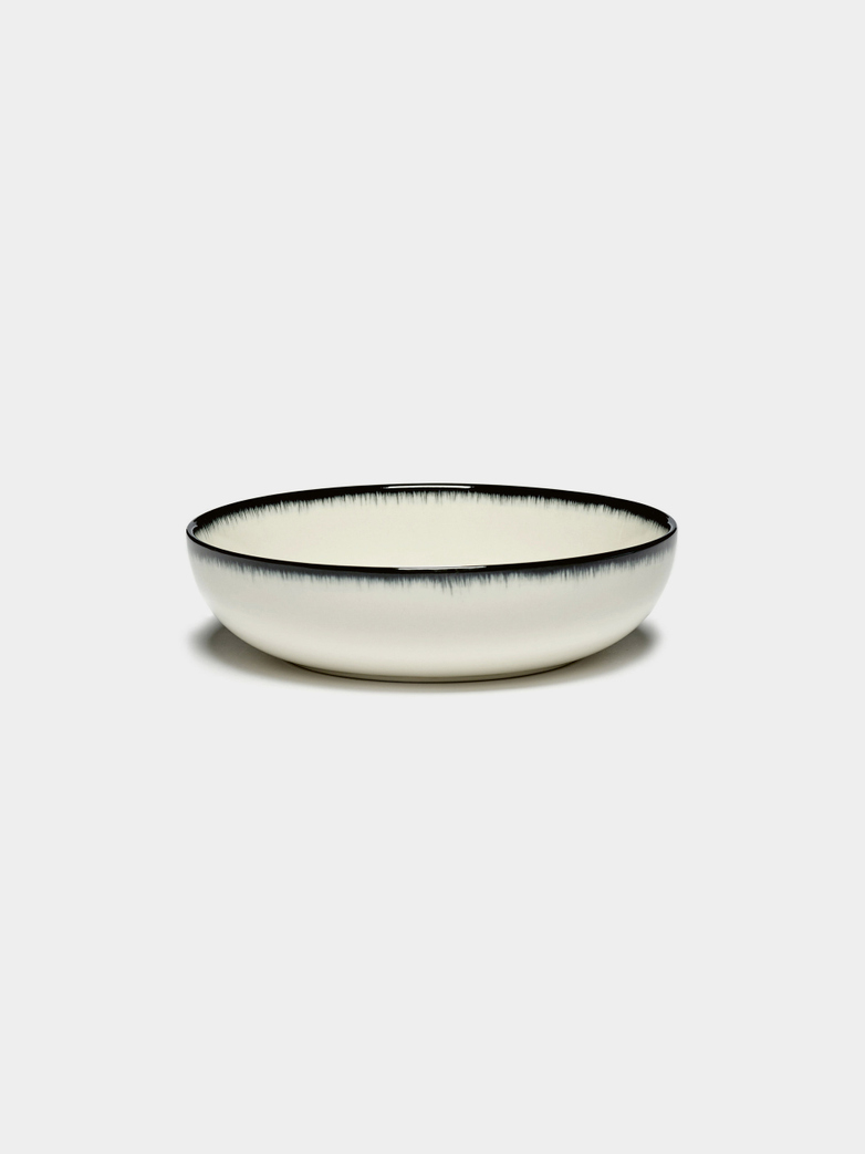 Ann Demeulemeester - High Plate 15,5 cm Off White - Black A
