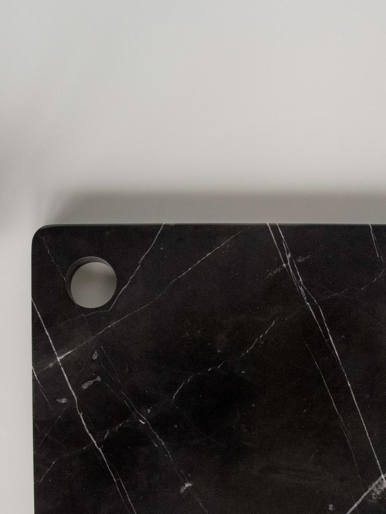 Marble Platter 30 x 20 cm Black