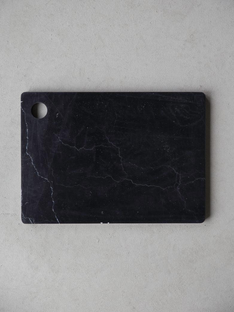 Marble Platter 30 x 25 cm Black