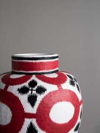 Paper Vase Red