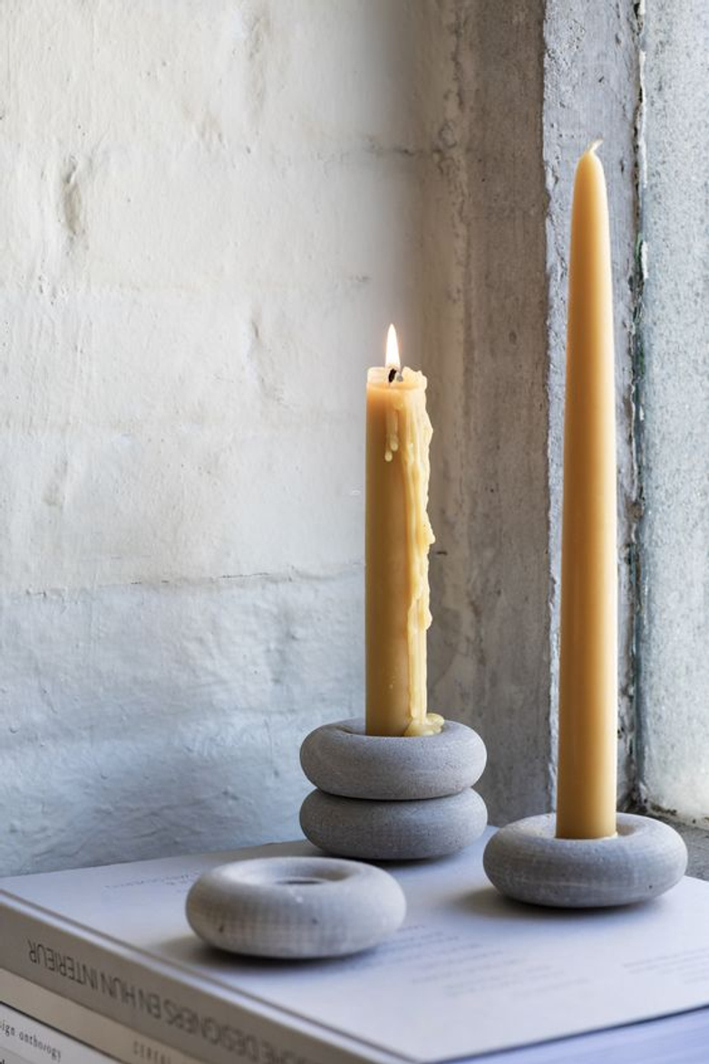 Brick Candle Holder Concrete