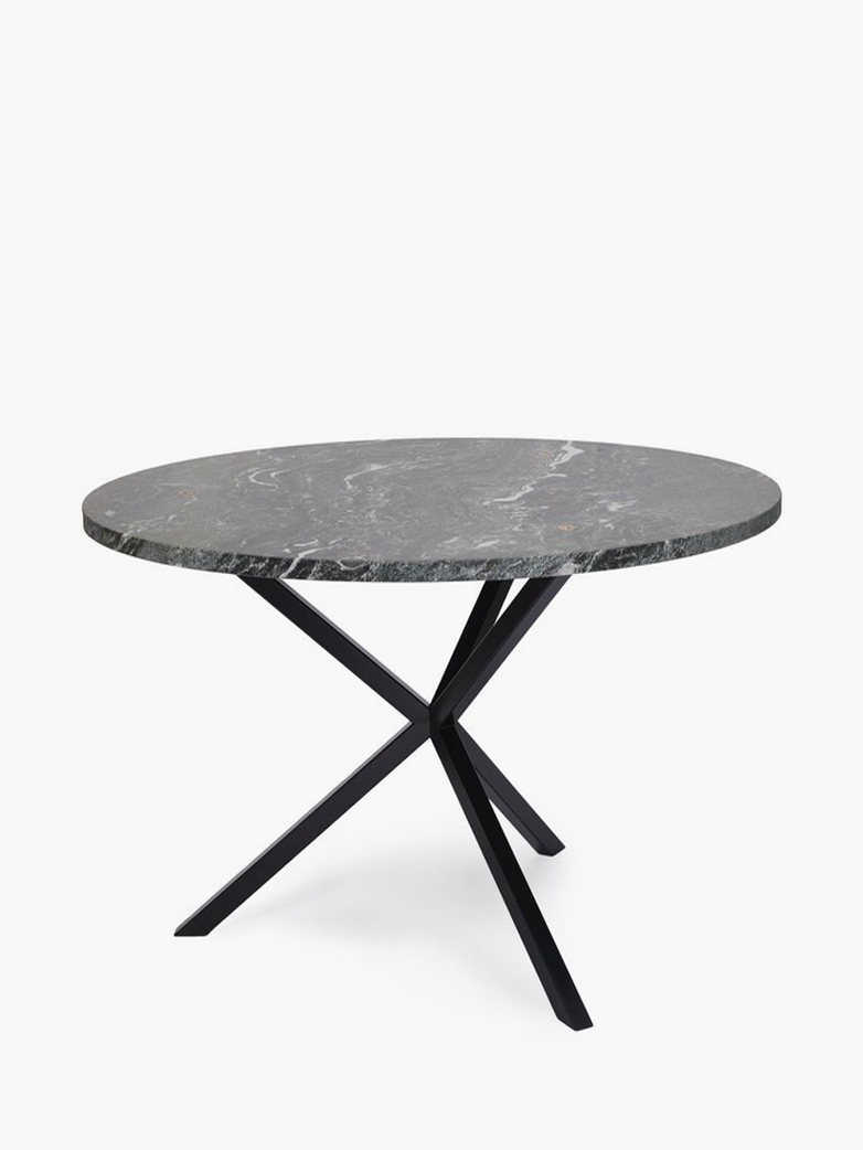 NEB Round Dining Table – Granite/Black