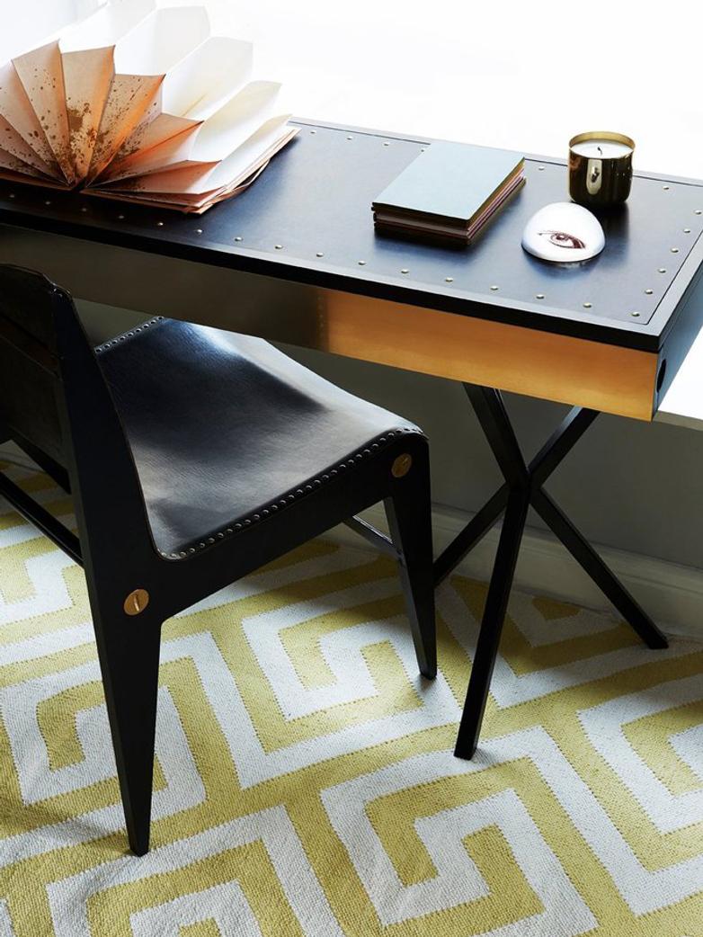 NEB Writing Desk – Brass/Black/Black – Small