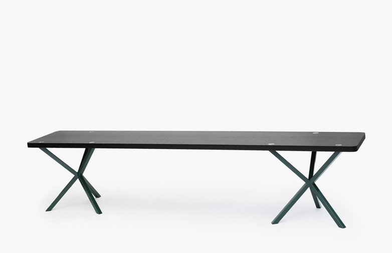 NEB Bench – Black Oak/Green