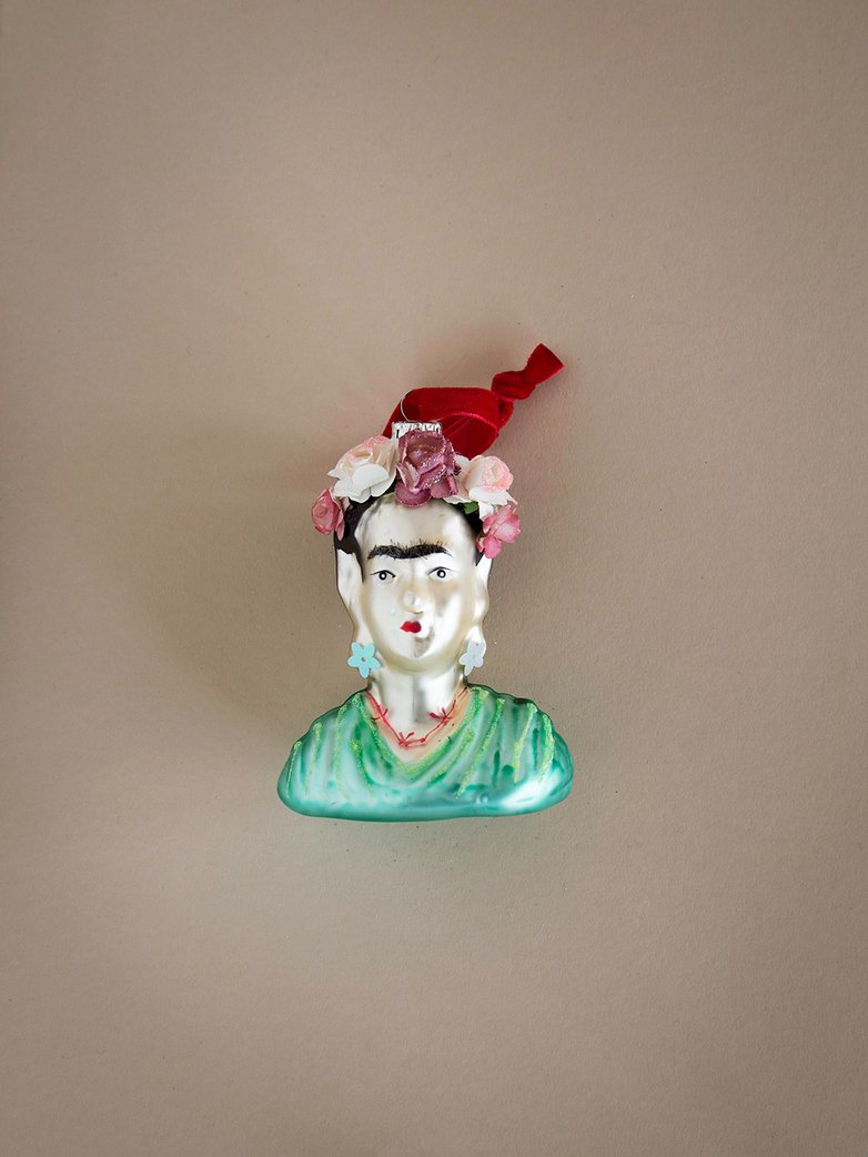Frida Bust Ornament - Green