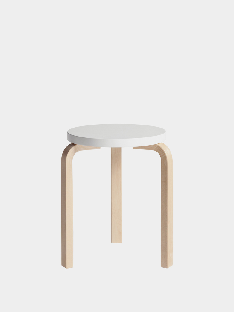 Stool 60 - Birch White