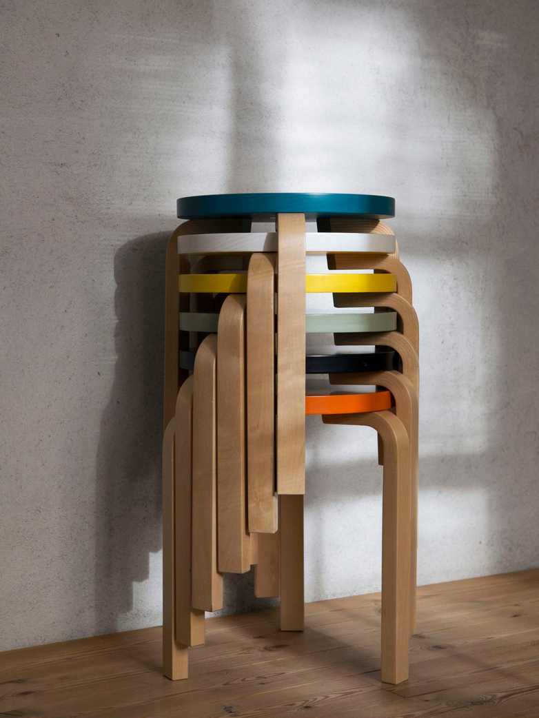 Stool 60 - Birch Orange