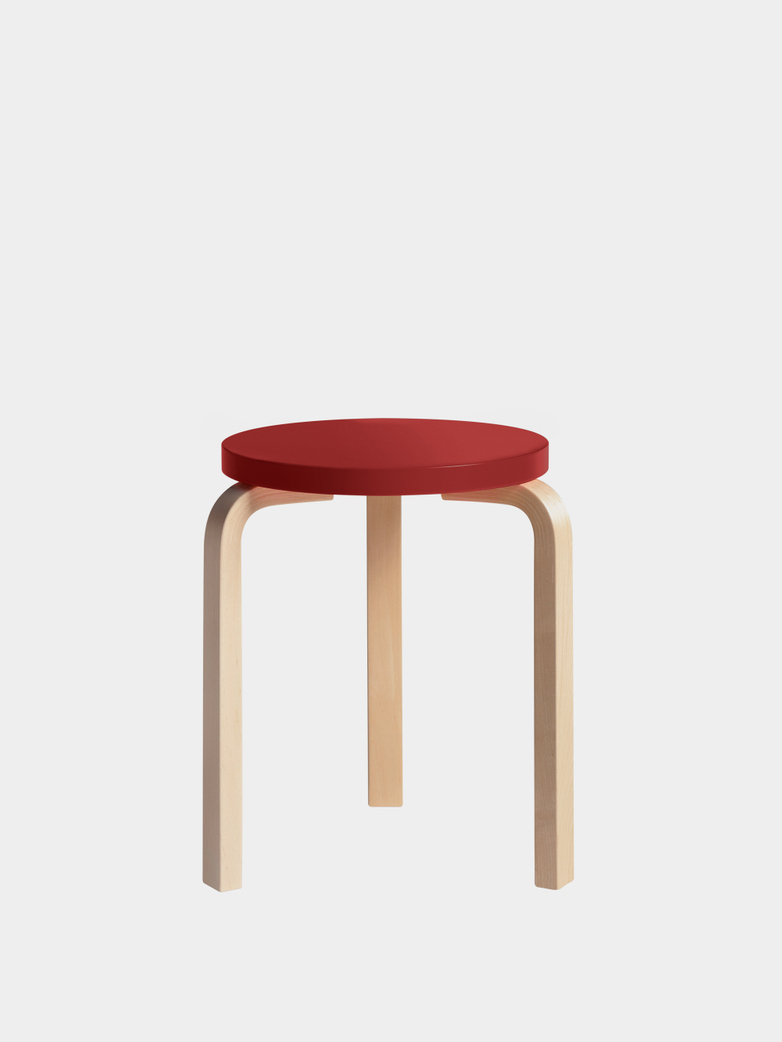 Stool 60 - Birch Red