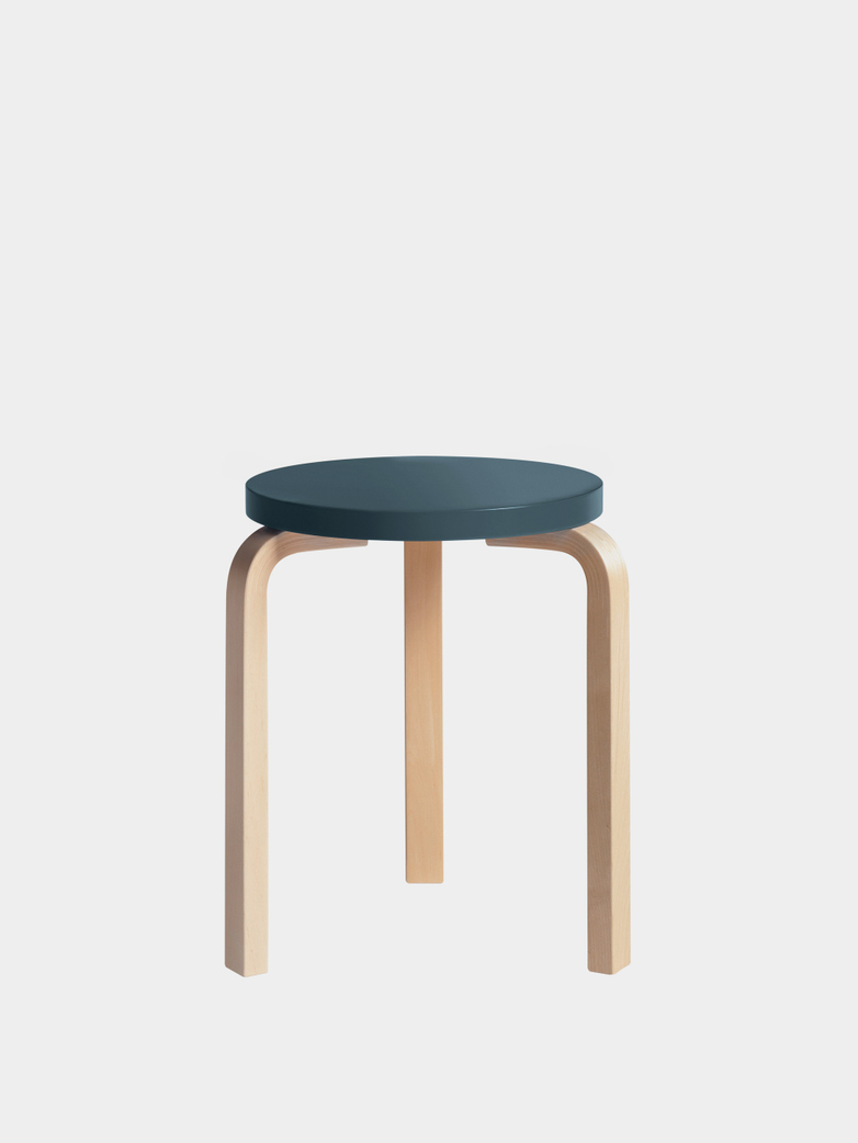 Stool 60 - Birch Blue