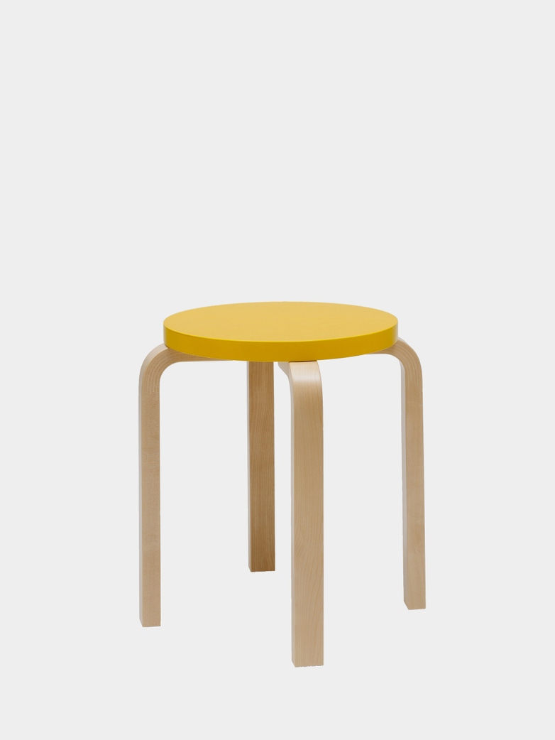 Stool E60 - Birch Yellow
