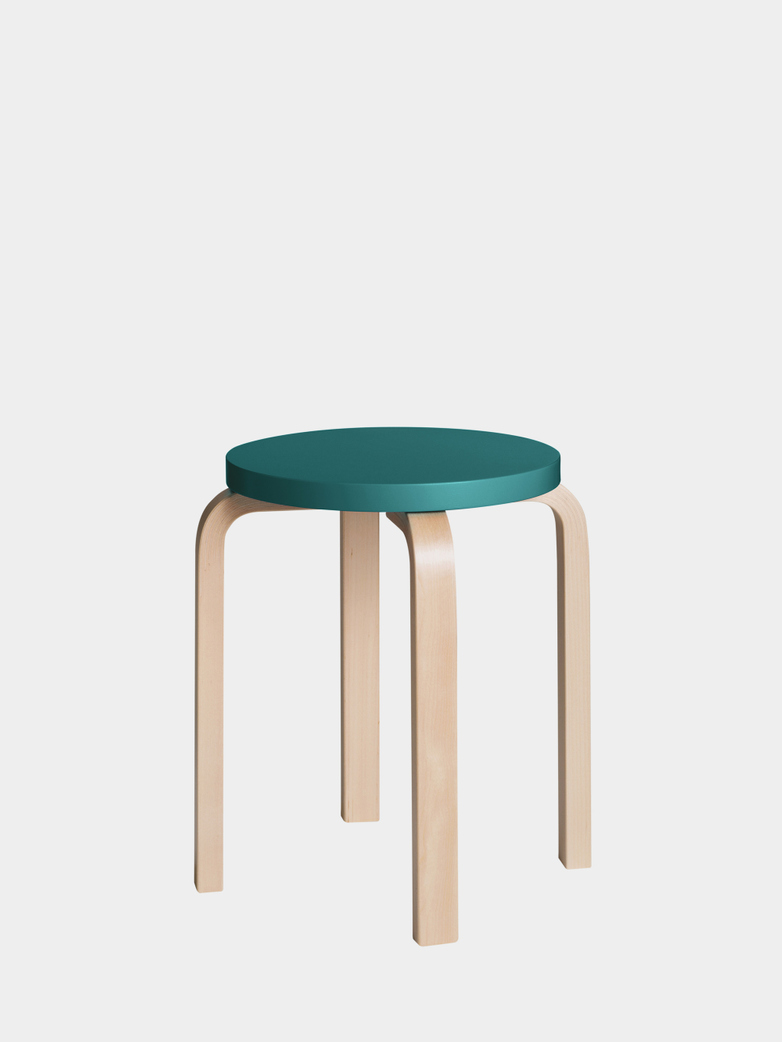 Stool E60 - Birch Petrol