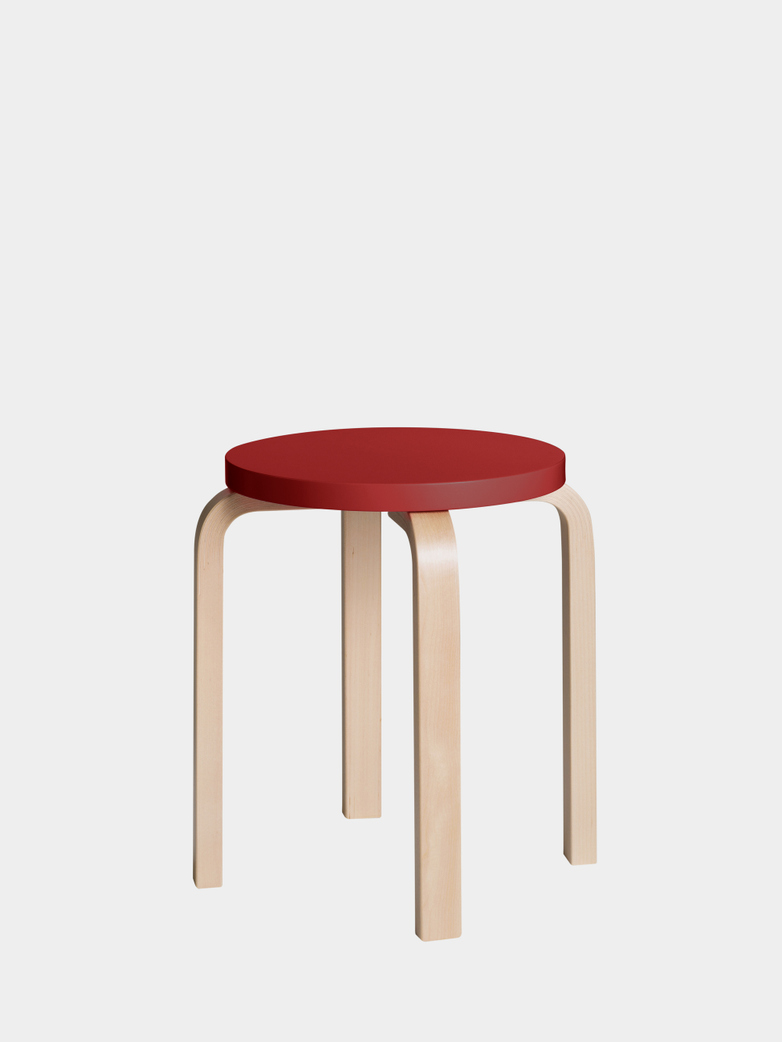Stool E60 - Birch Red