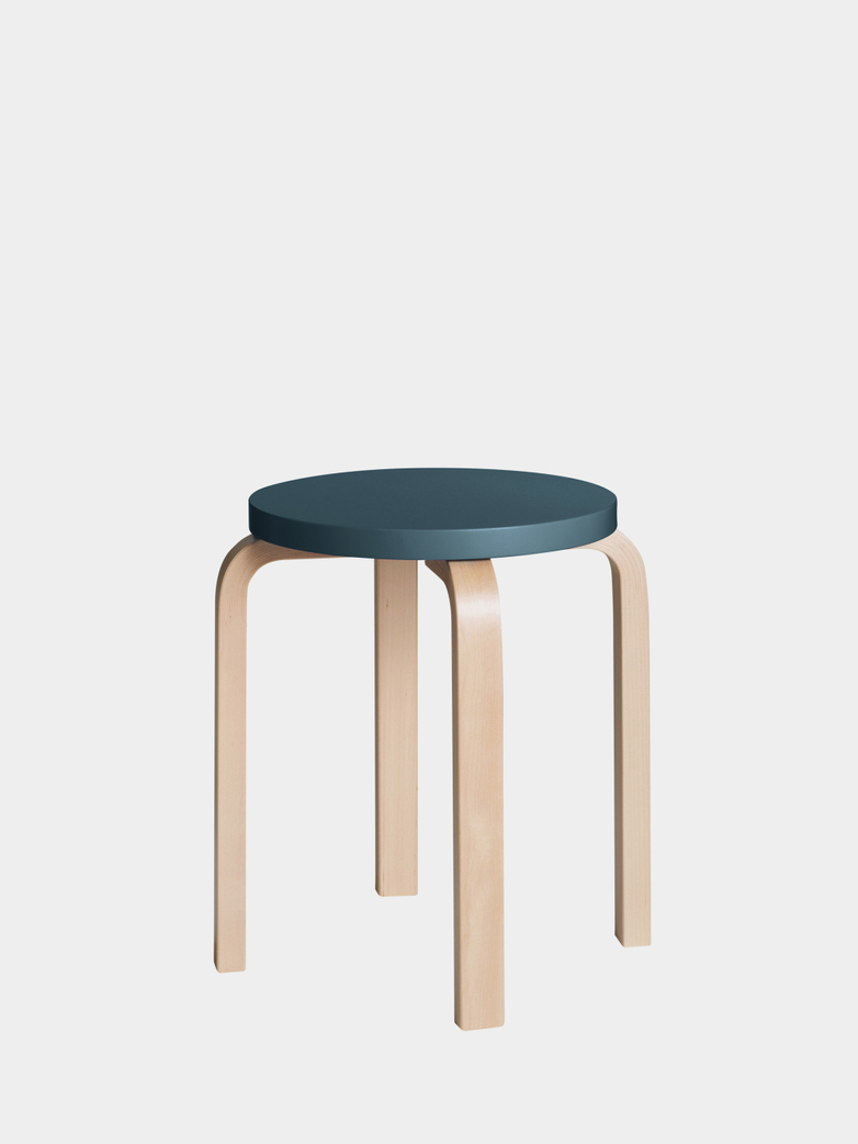 Stool E60 - Birch Blue