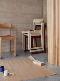 Atelier Chair - Dark Red Lacquered Beech