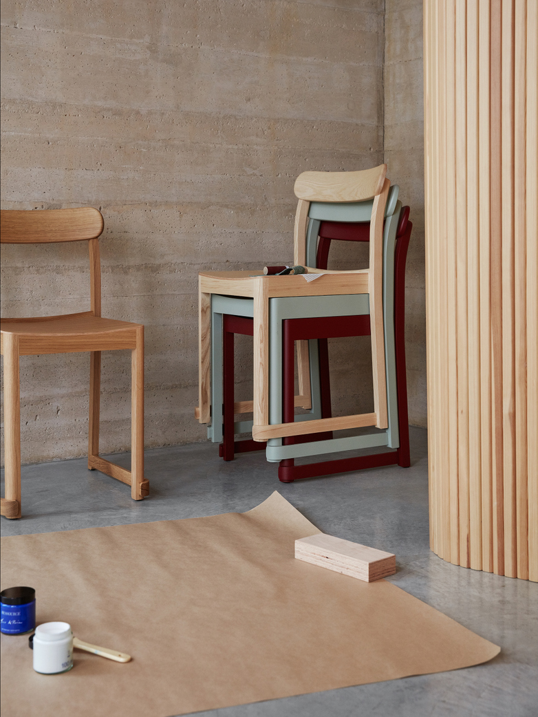 Atelier Chair - Green Lacquered Beech