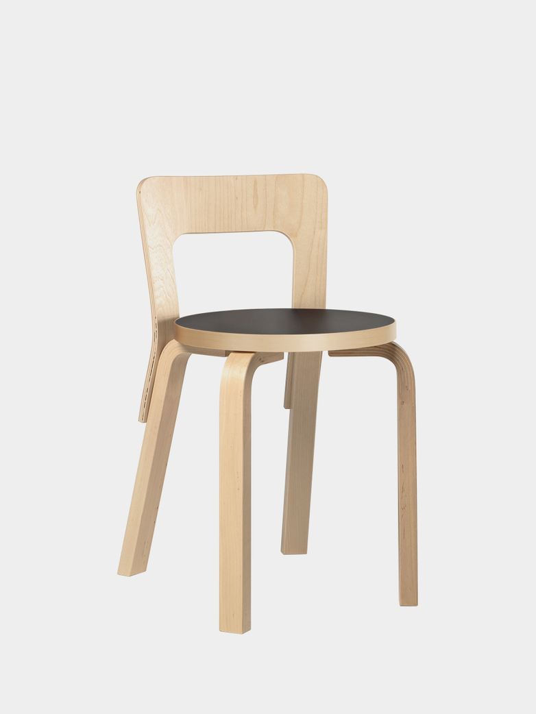 Chair 65 - Birch Black Linoleum