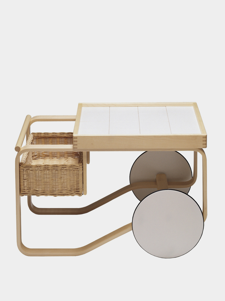 Tea Trolley 900 - White Tiles