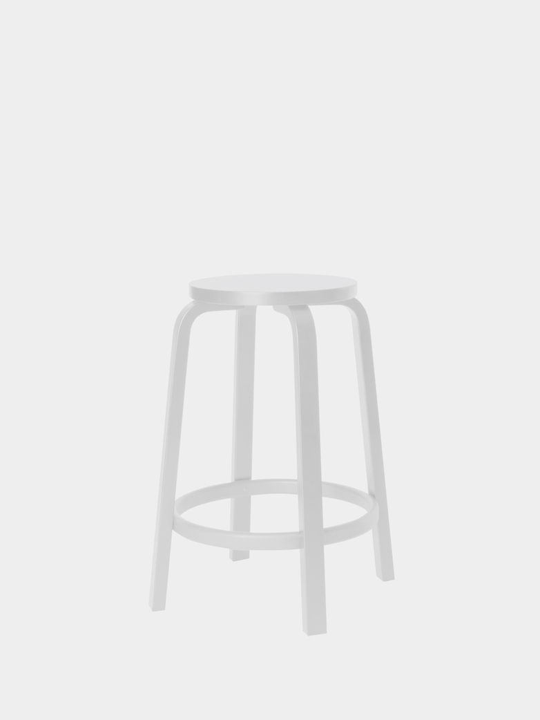 Bar Stool 64 - IKI White HPL - 65 cm