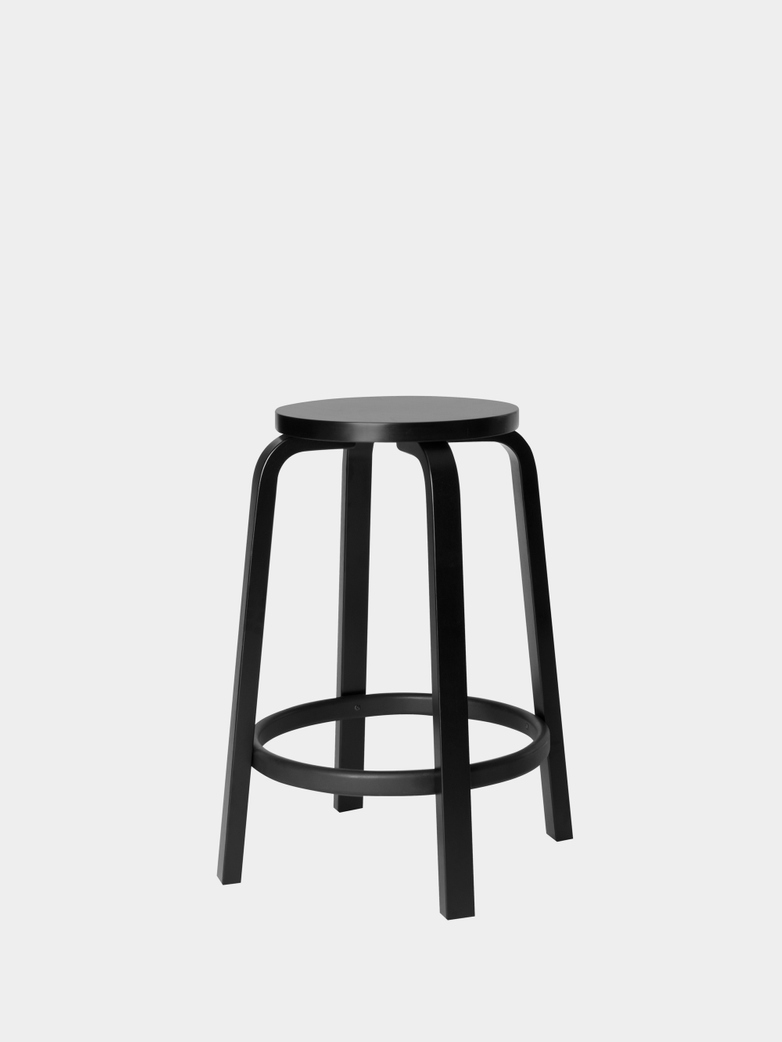 Bar Stool 64 - Black Linoleum - 65 cm