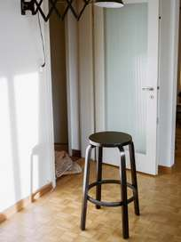 Bar Stool 64 - Black Linoleum - 75 cm