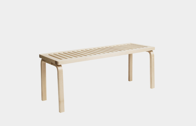 Bench 153A - Natural Lacquered - 112,5 cm