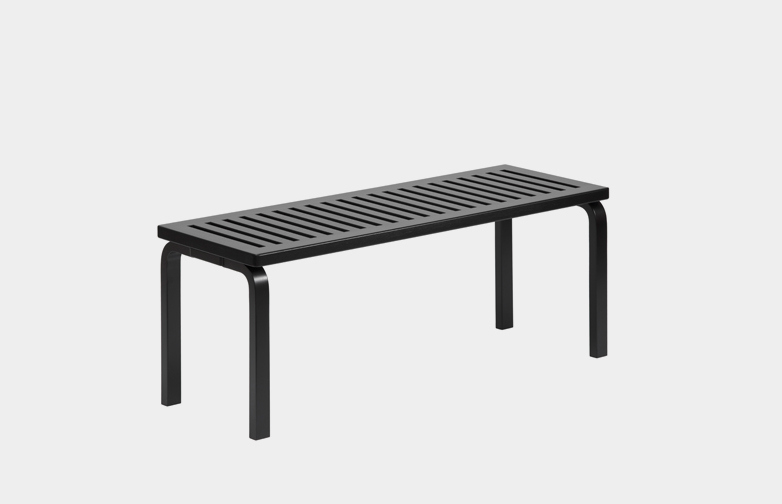 Bench 153A - Black Lacquered - 112,5 cm