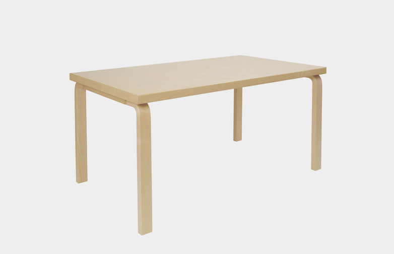 Aalto Table Rectangular 80B - Birch Veneer