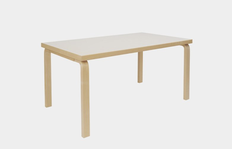 Aalto Table Rectangular 80B - IKI White HPL