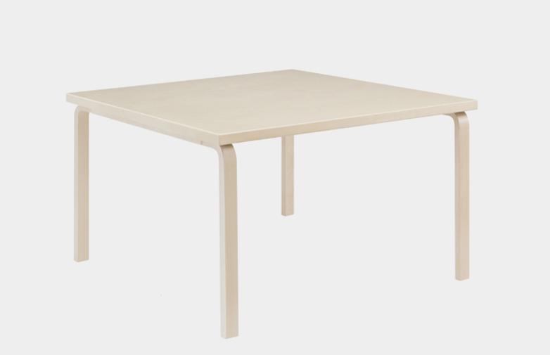 Aalto Table Square 81C - IKI White HPL -75x75 cm
