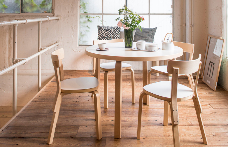 Aalto Table Round 90A - Birch Veneer - 100cm