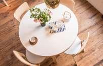Aalto Table Round 90A - IKI White HPL - 100cm