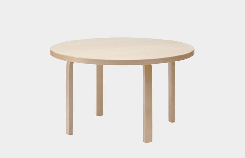 Aalto Table Round 91 - Birch Veneer - 125 cm