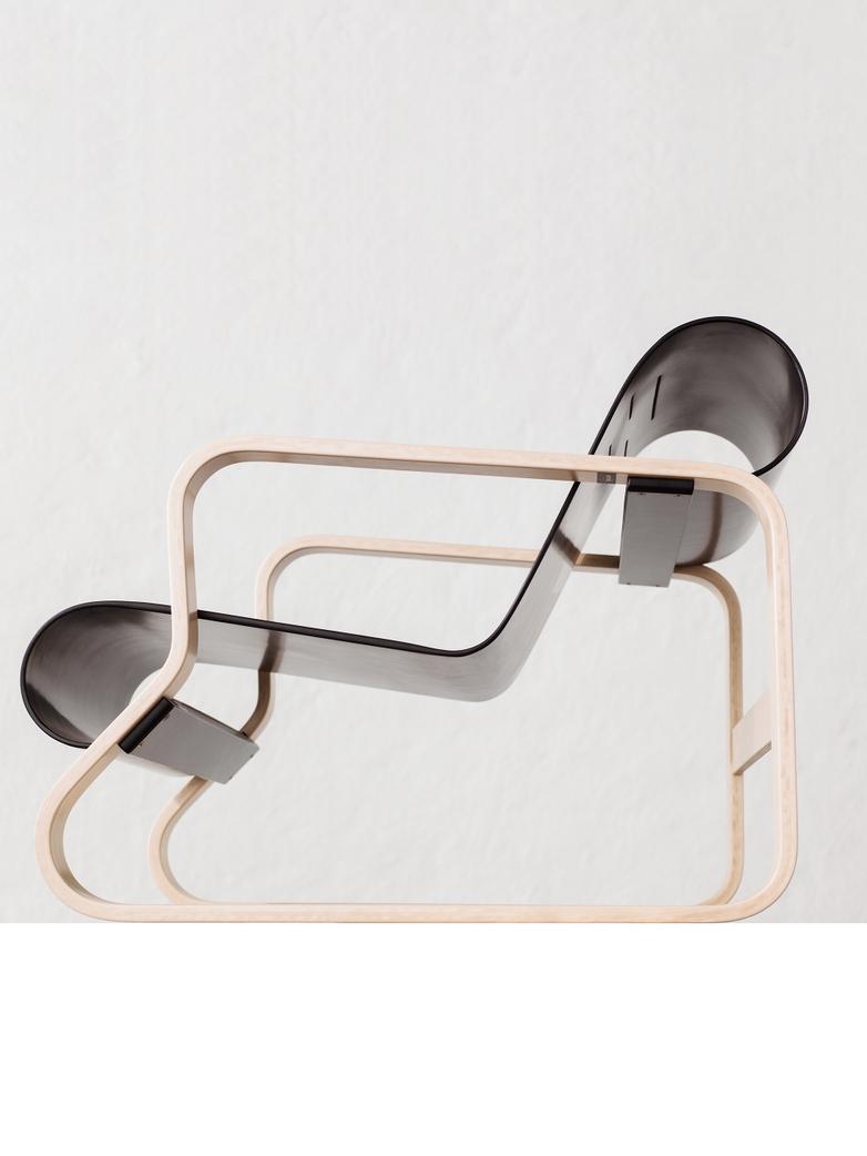 Armchair 41 - Piamio - Seat Black Lacquered