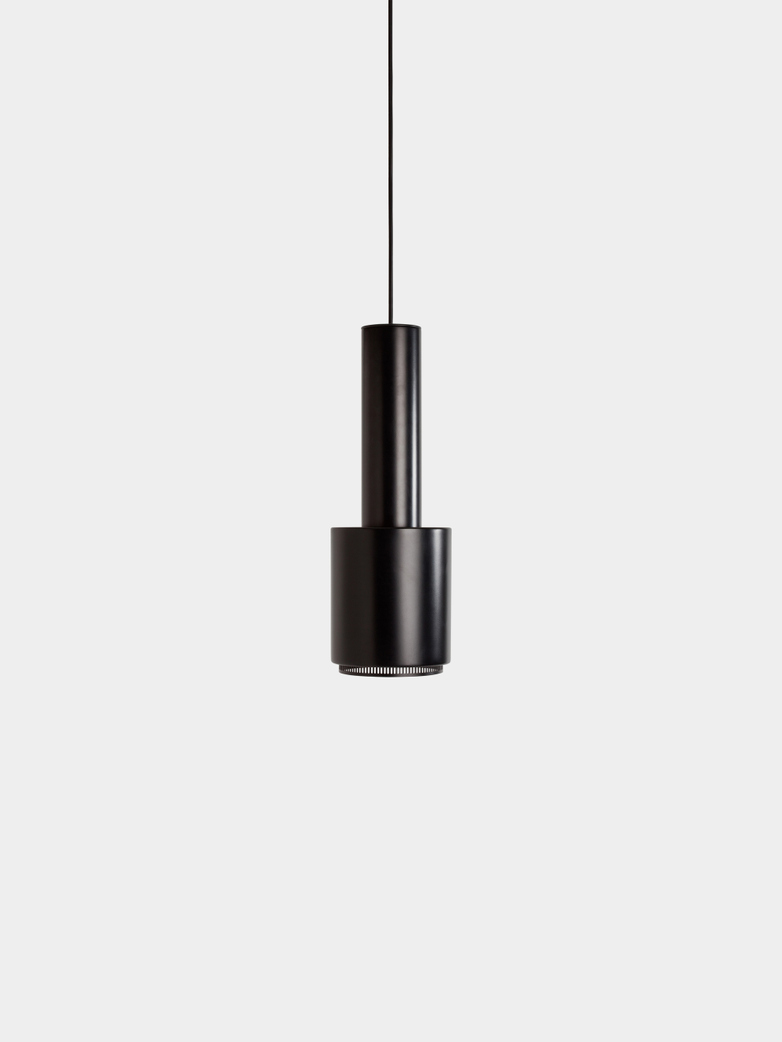 Pendant Light A110 - Hand Granade - Black Shade - Black Ring - Black Cable