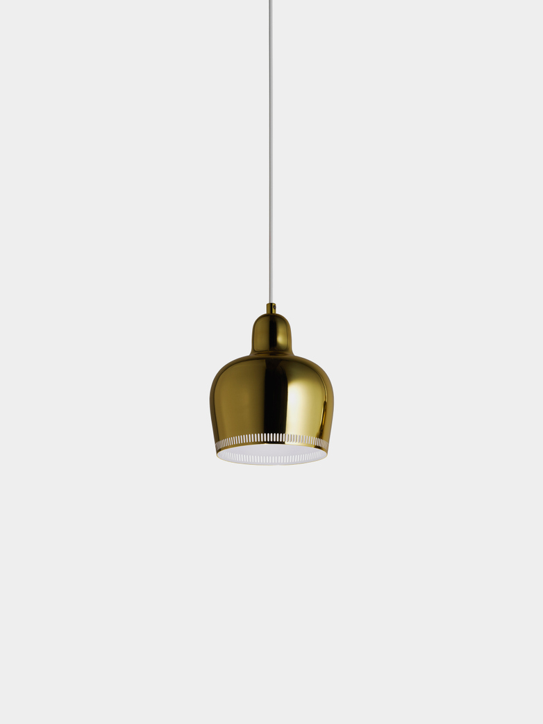 Pendant Light A330S - Golden Bell - Inside White Coated