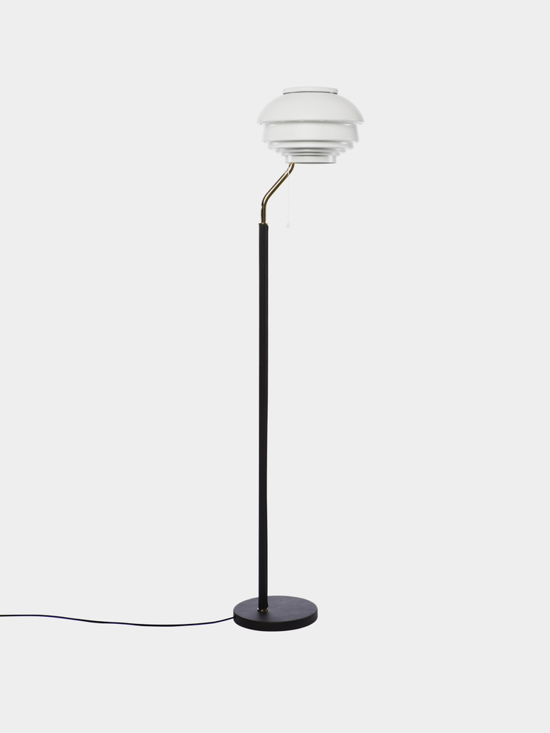 Floor Light A808 - White Painted Steel Shade