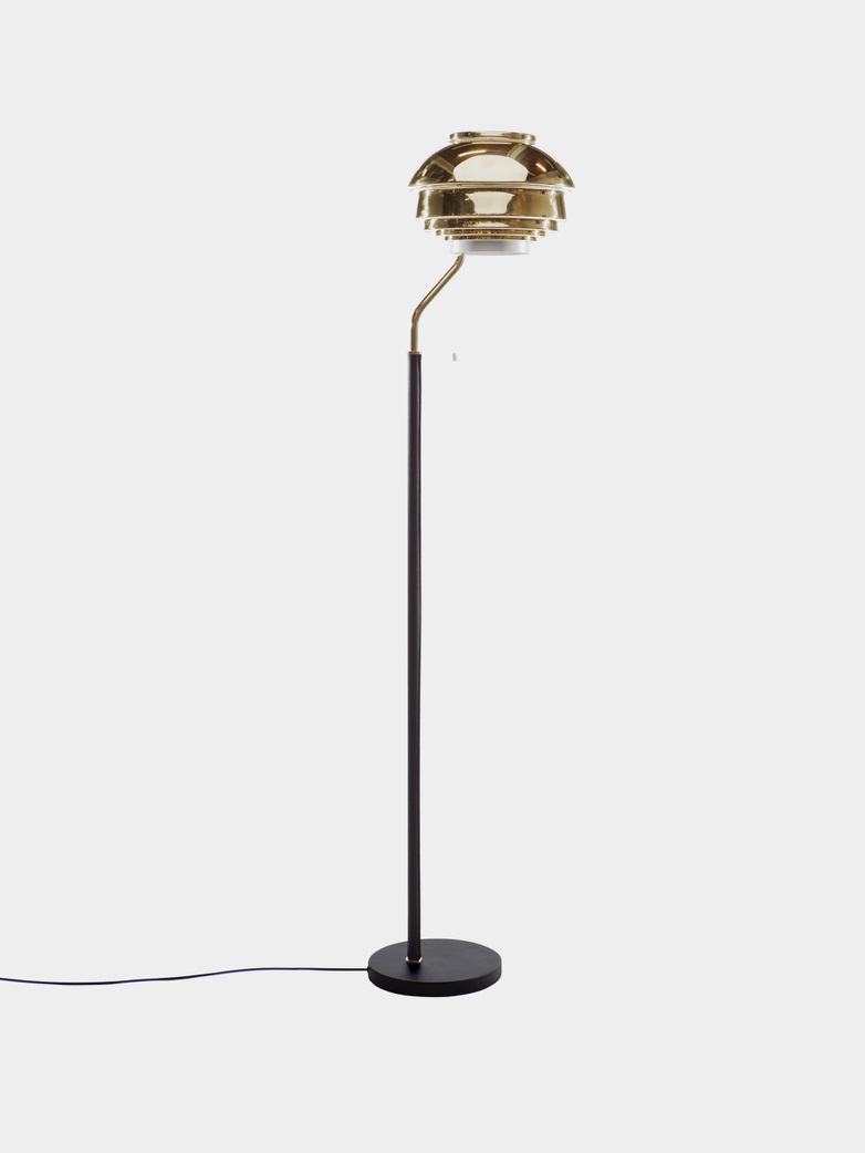 Floor Light A808 - Polish Brass Shade