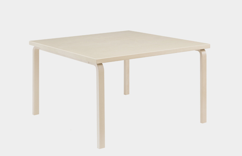Aalto Table Square 81C - Birch Veneer