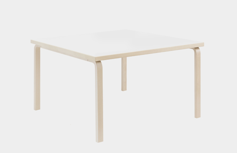 Aalto Table Square 81C - IKI White HPL