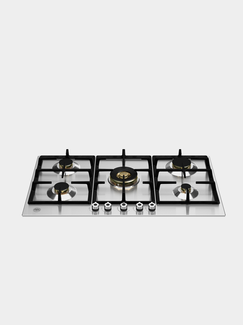 90 cm Gas hob with central dual wok Professional Series