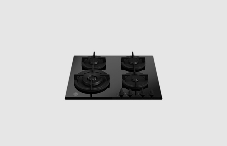 60cm gas on glass hob with lateral wok Modern Series