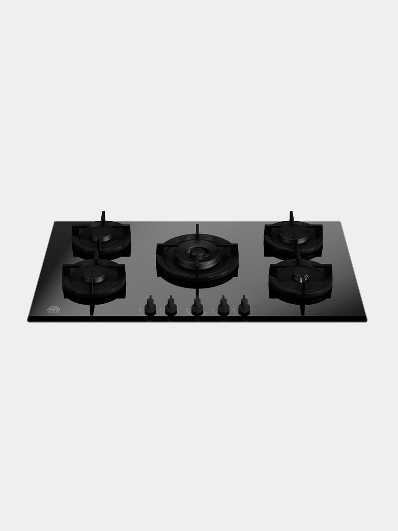 90 cm gas on glass hob with central wok - Modern Series