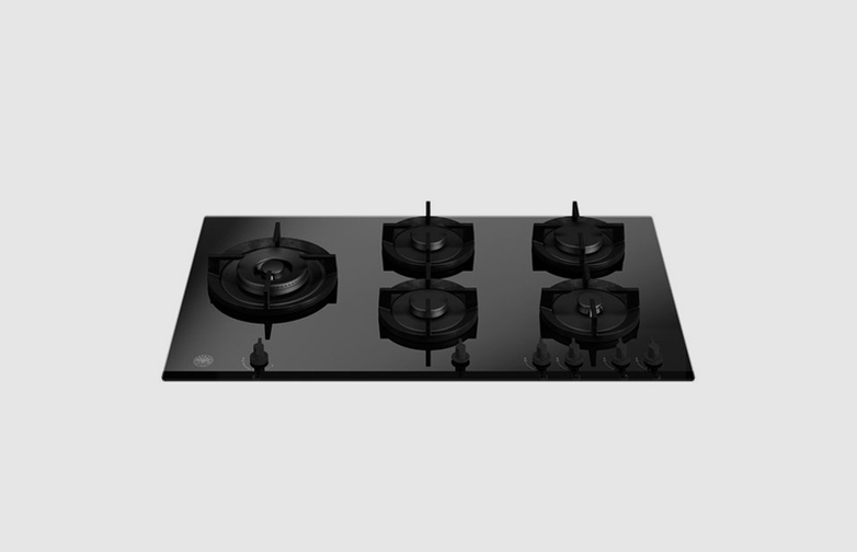 90 cm gas on glass hob with lateral wok - Modern Series