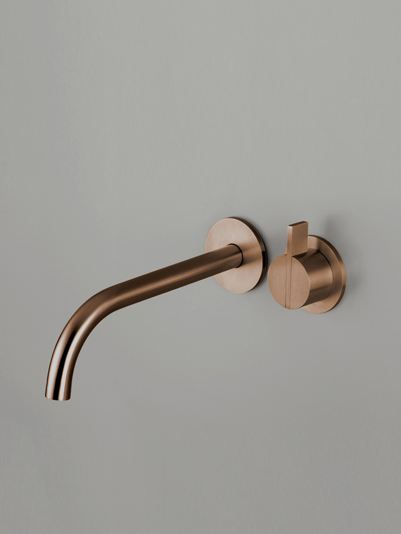 Piet Boon Raw Copper - Wall Mounted Mixer with 220 mm Spout