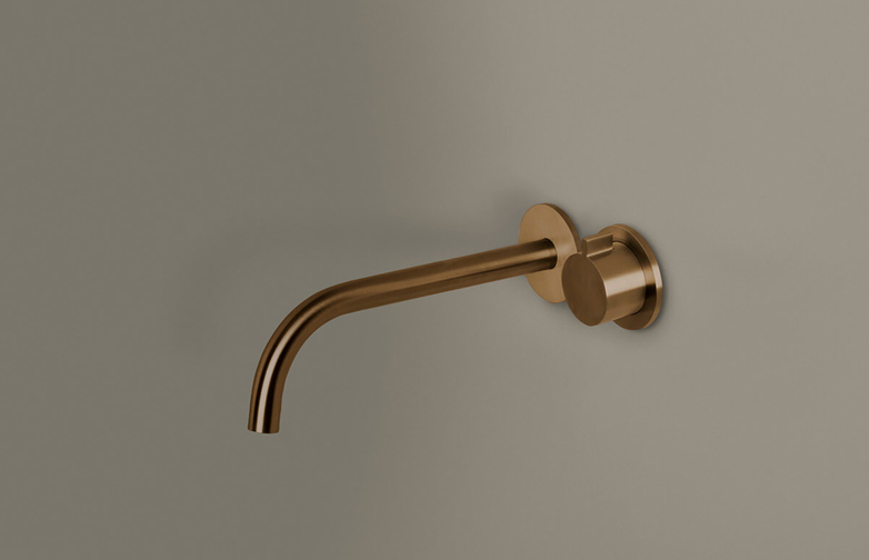 Piet Boon Raw Copper - Wall Mounted Cold Water Tap with 220 mm Spout