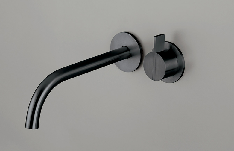 Piet Boon Gun Metal Black - Wall Mounted Mixer with 220 mm Spout