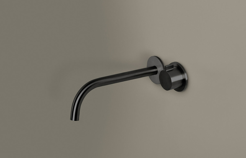 Piet Boon Gun Metal Black - Wall Mounted Cold Water Tap with 220 mm Spout